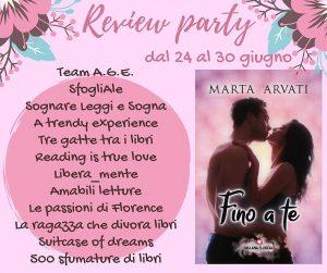 """Review party, """"Fino a te"""" di Marta Arvati"""