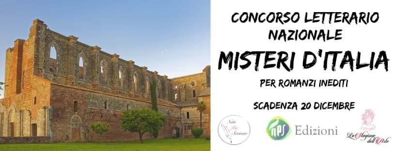 """NATI PER SCRIVERE"""" LANCIA IL CONCORSO LETTERARIO """"MISTERI D'ITALIA"""""""