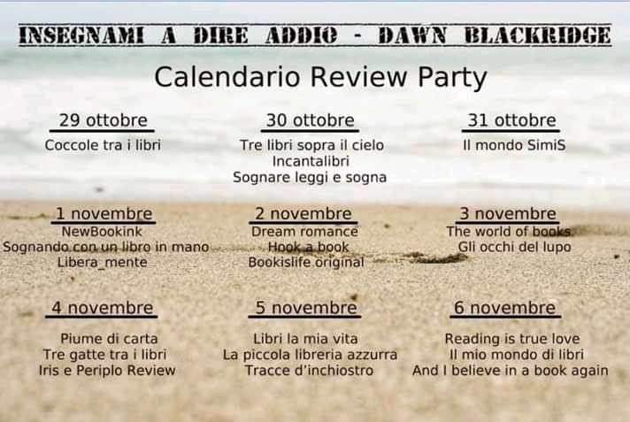 "review party, ""Insegnami a dire addio""di Dawn Blackridge"